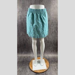 J Crew Factory Sidewalk Mini Skirt Linen Size 4